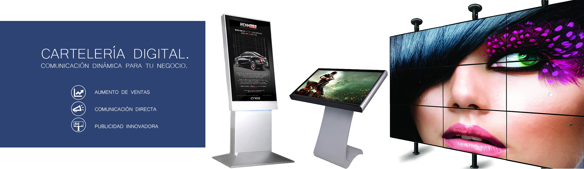 escaparate digital, digital signage, pantallas publicidad, pantallas gigantes, paneles led, videowall