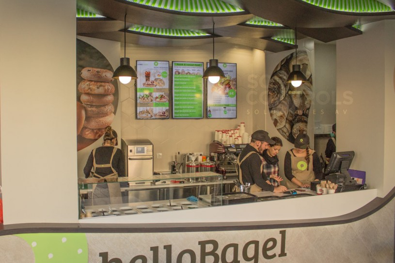 Menú Digital en Hello Bagels