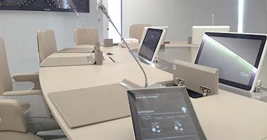 sistemas de control de sala para empresas, control videoconferencias, video llamada, sonorización sala.