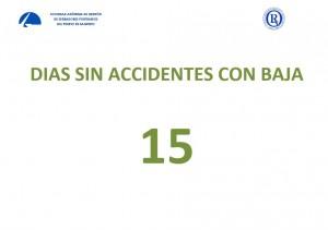 información tiempo real nº días sin accidentes